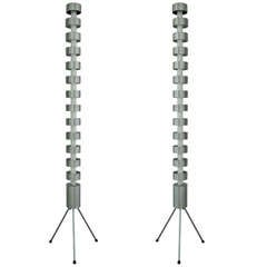 Pair of 1980s Modern French Demeter Colonne Floor Lamps for Escapade Paris