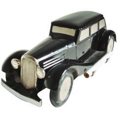 Very Rare German Figural 1930s Toy Car Mechanical Table Cigarette Dispenser