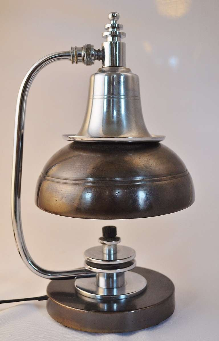 This american art nouveau table lamp is no longer available - American Markel Art Deco Machine Age Original Finish Table Lamp 2