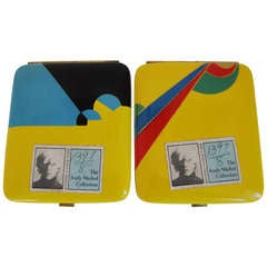 Pair of French Art Deco Geometric Cigarette Cases from The Warhol Collection