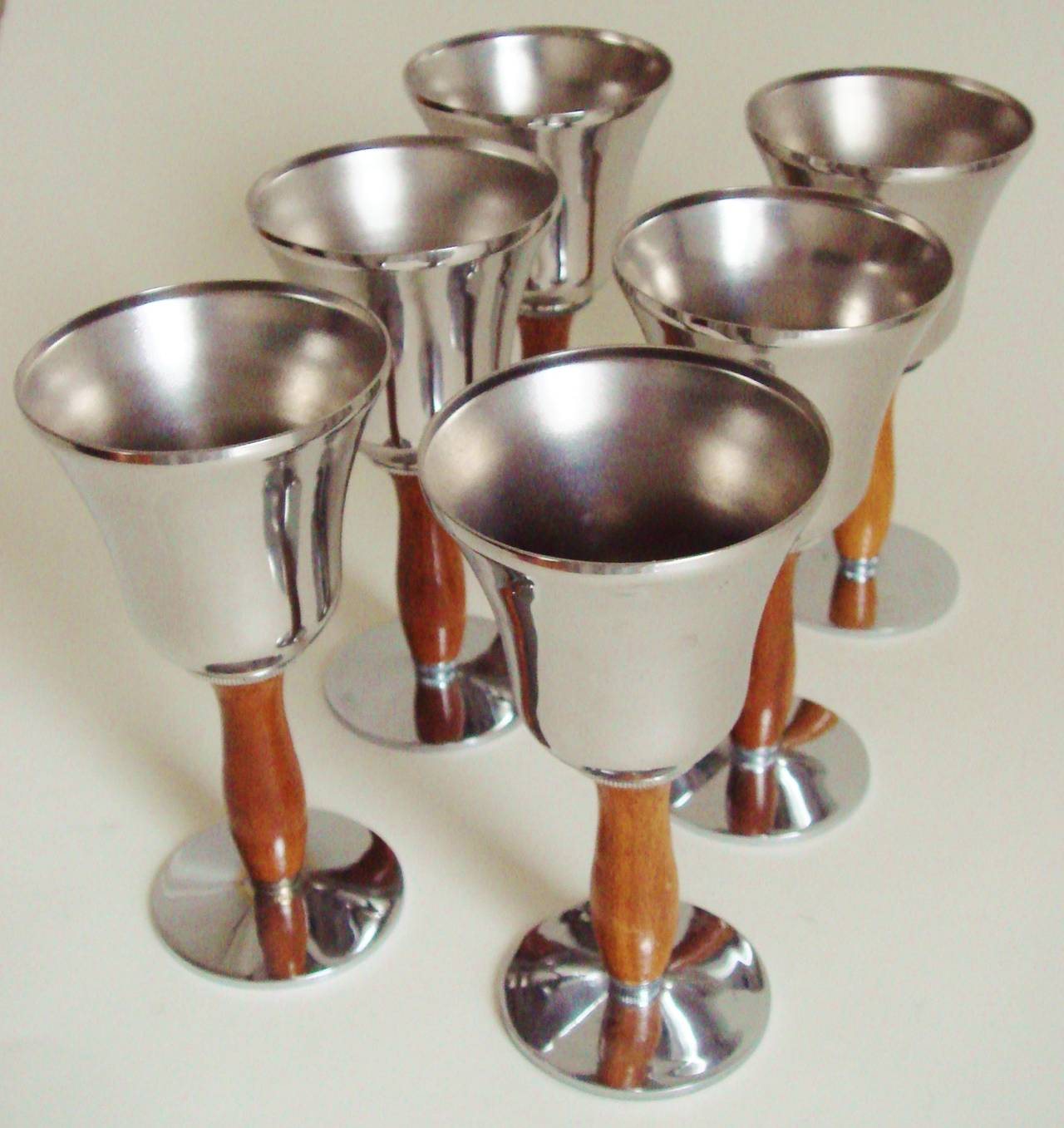 Iconic American Art Deco Seven-Piece Town Crier Cocktail Set by Keystone Silver For Sale 1