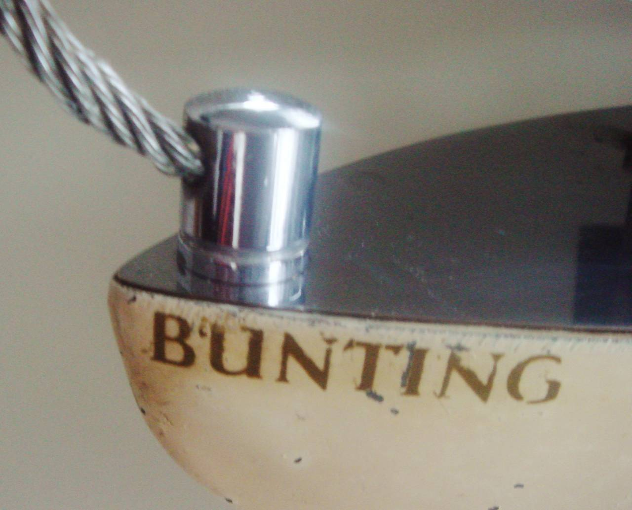 British Iconic English Art Deco Bunting Figural Yacht Floor Lamp Conversion. For Sale