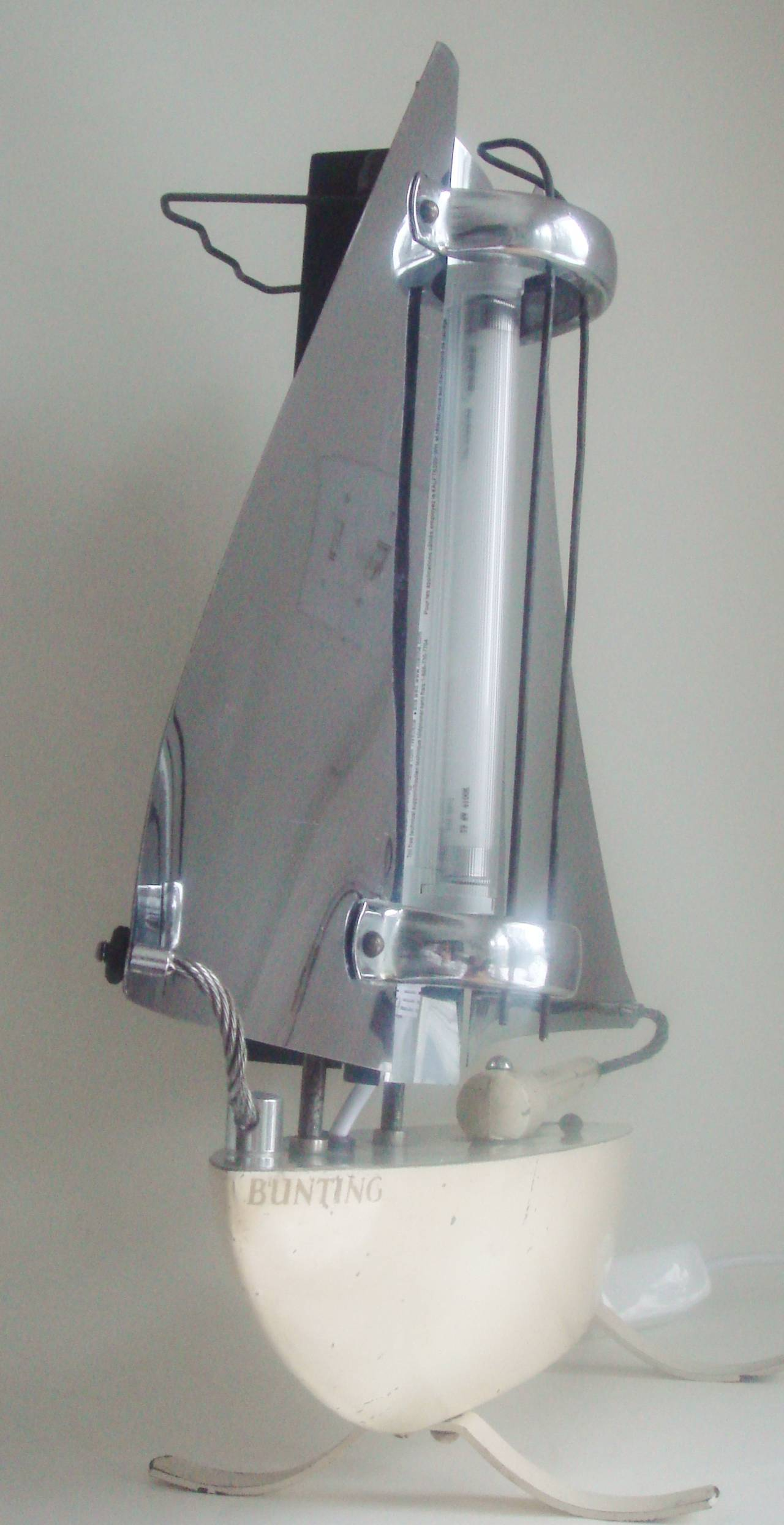 Mid-20th Century Iconic English Art Deco Bunting Figural Yacht Floor Lamp Conversion. For Sale