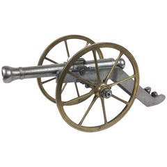 Cast Iron and Bronze Napoleonic Cannon Model