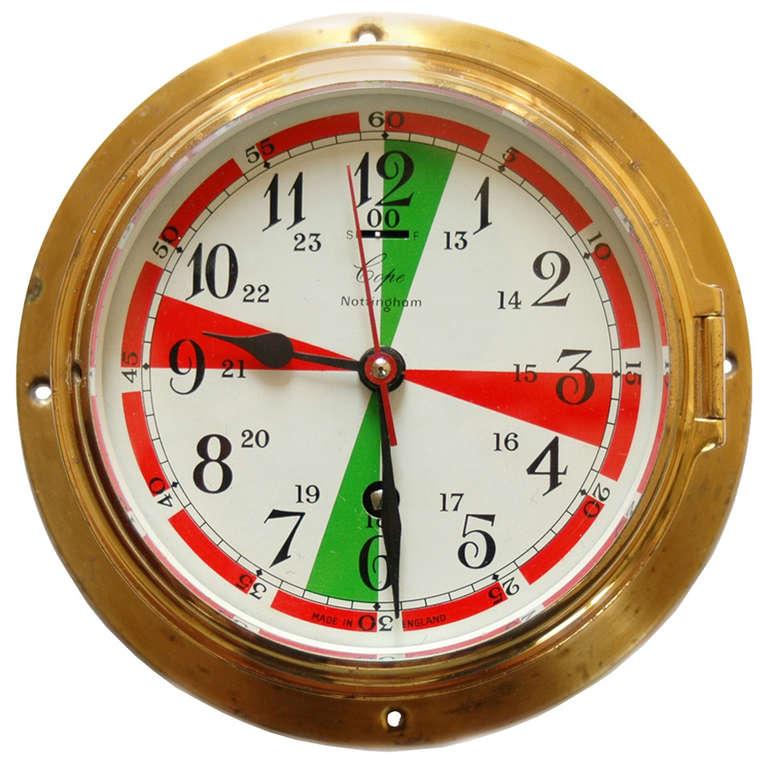 Wwii Ship Radio Room Bulkhead Clock With Radio Silence Markings At 1stdibs