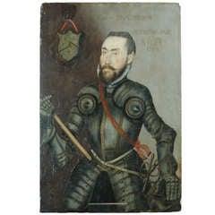 16th Century English School Portrait of Captain John Hyfield