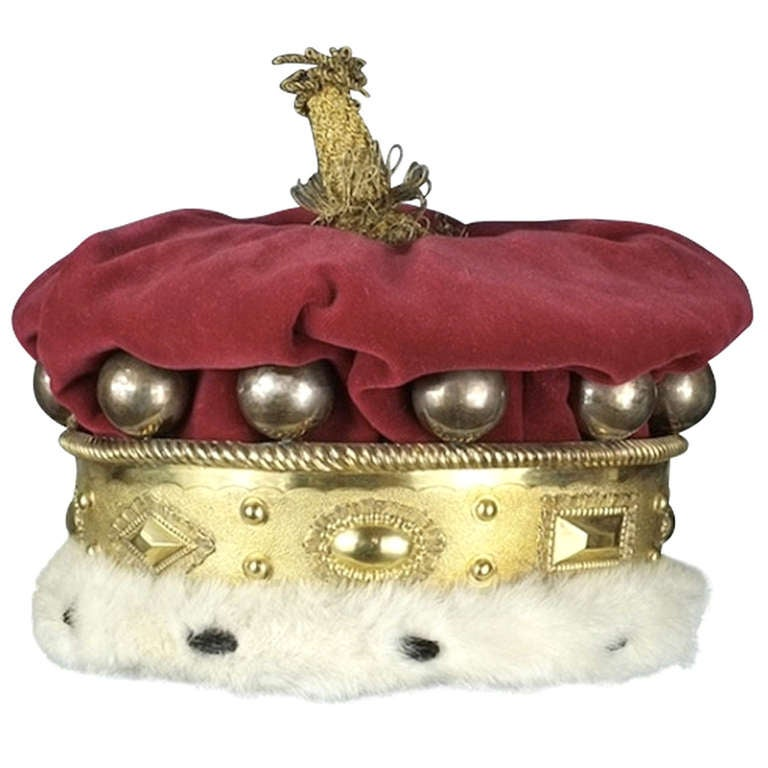 William IV Period Silver Gilt Peers Coronet at 1stdibs
