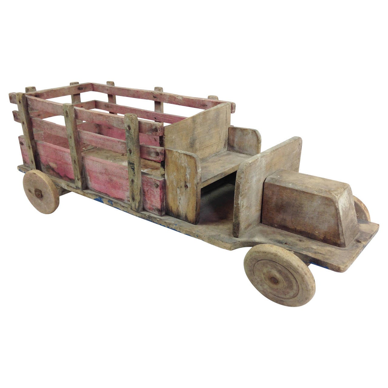 20th Century Toys : Early th century scratch built wooden toy truck at stdibs