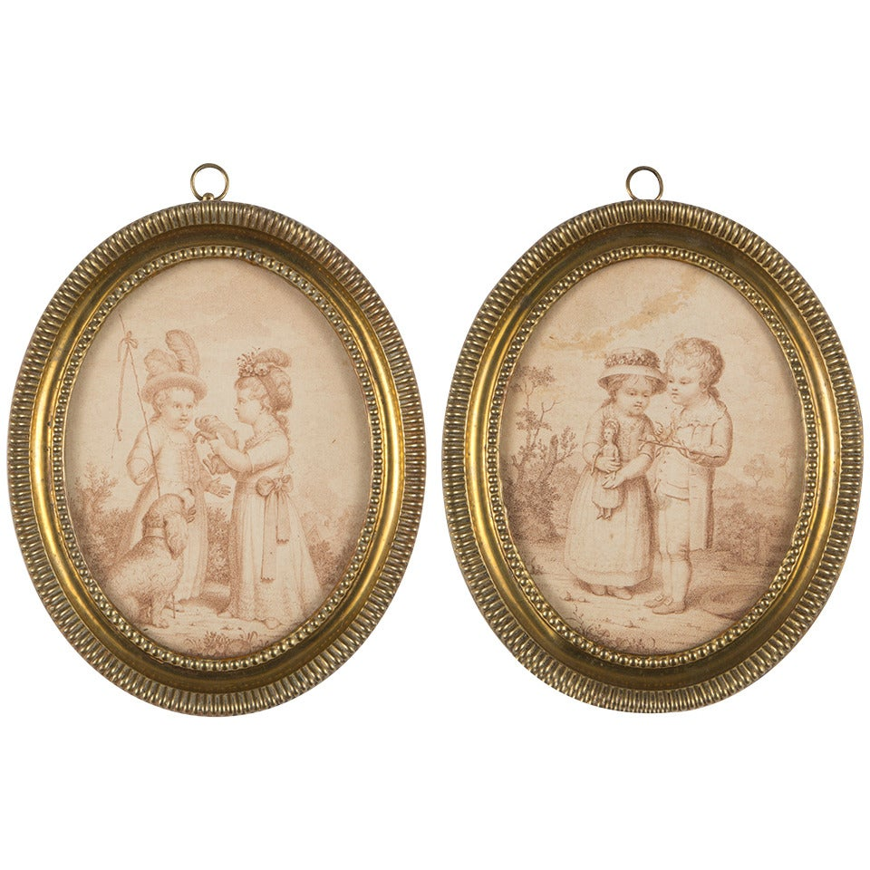 Fine Pair of Late 18th Century Engravings