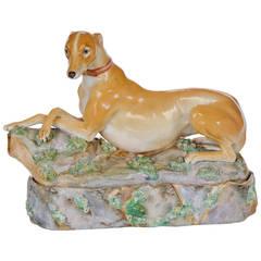 Jocob Petit Porcelain Figure of a Greyhound