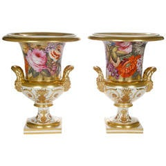 Very Fine Pair of Derby Porcelain Vases, English, circa 1810