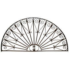 19th Century Cast Iron Transom