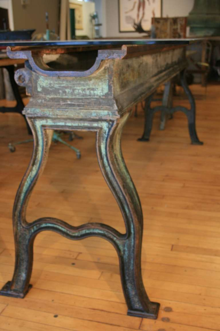 Large 19th Century Cast Iron Table Base Lathe 2