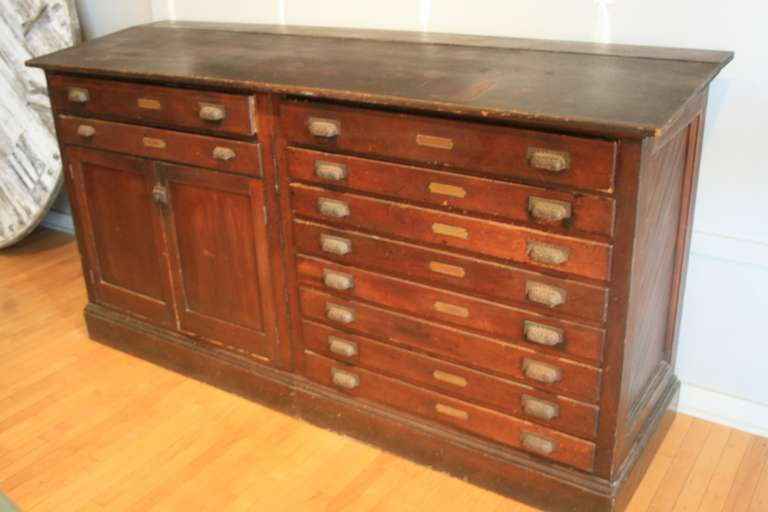 Perfect Surveyor's Bureau 1905 Multi- Drawer Map Cabinet at 1stdibs SP29