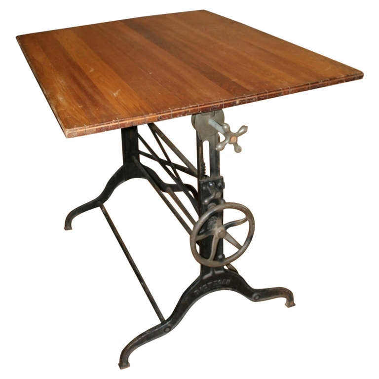 Beautiful Large 19th Century Drafting Table 1