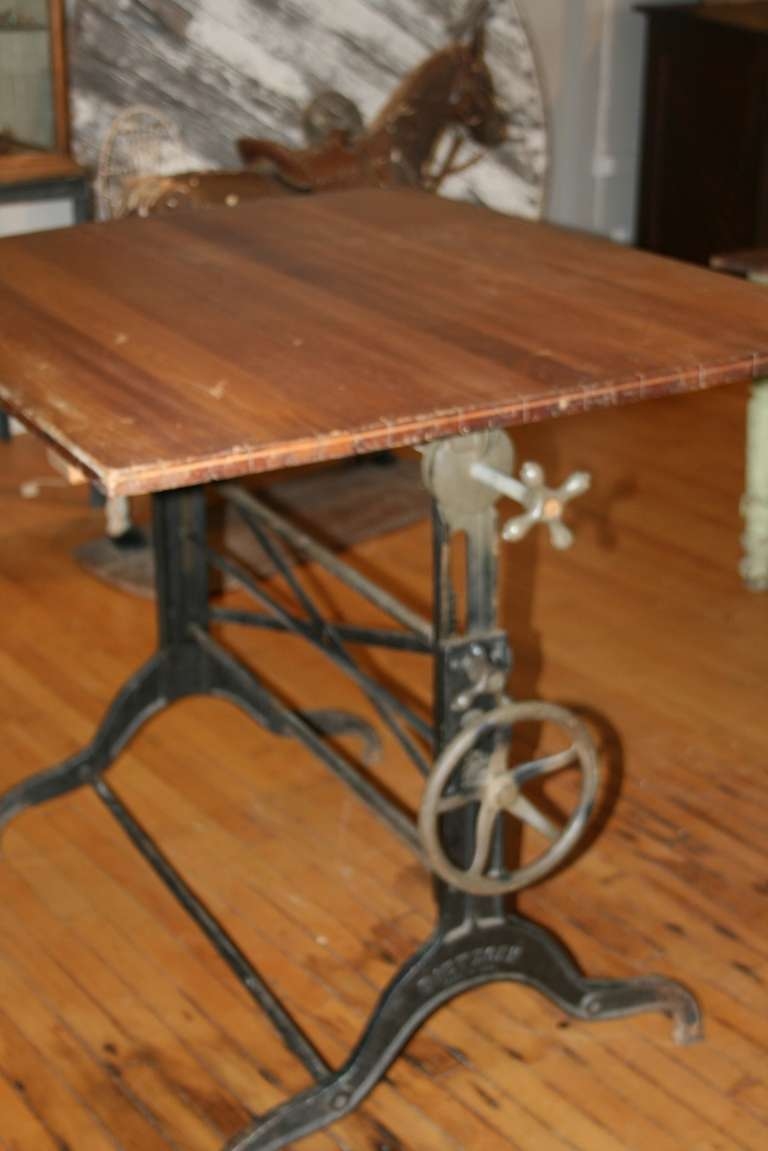 Beautiful Large 19th Century Drafting Table At 1stdibs