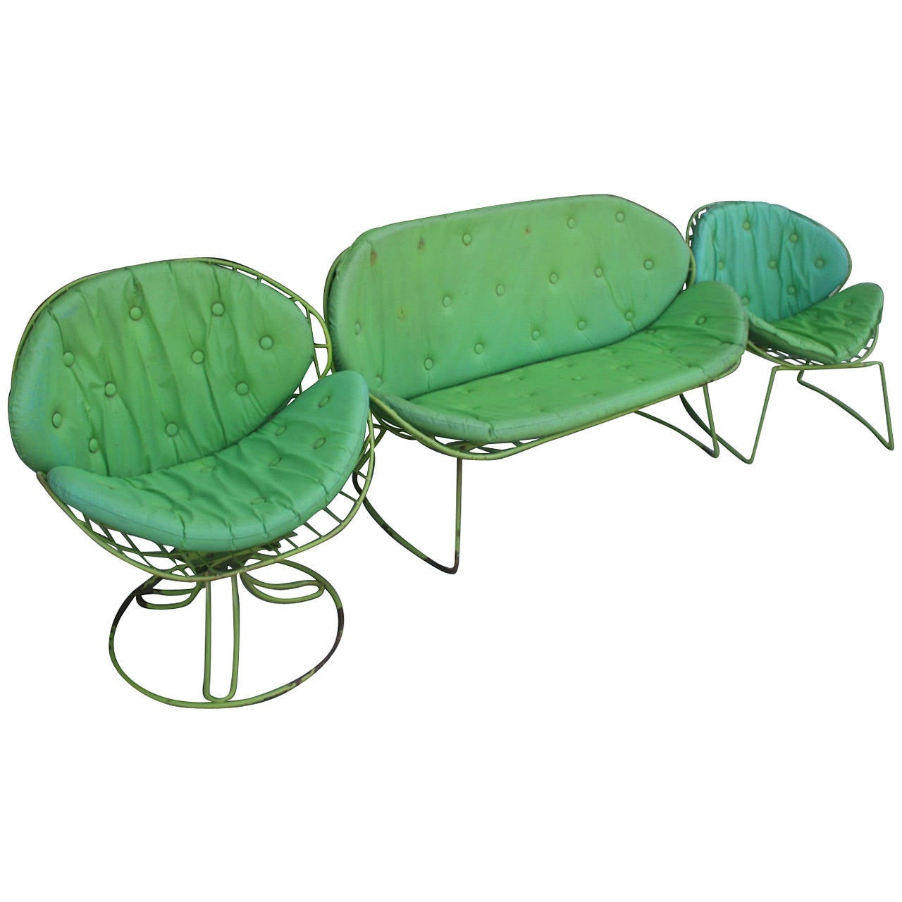 Mid Century Set of Garden Chairs For Sale at 1stdibs