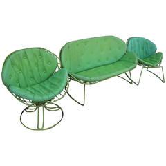 Mid-Century Set of Garden Chairs