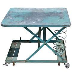 Adjustable Height Industrial Spring Table