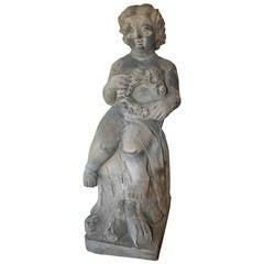 19th Century Carved Limestone Garden Sculpture