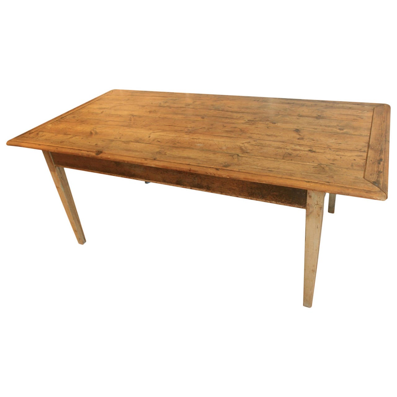 19th century irish scrubbed pine dining table at 1stdibs for Pine dining room table