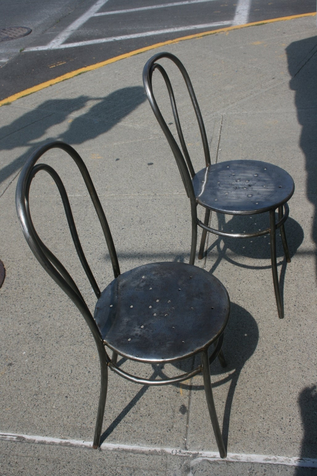 Four Steel Thonet Style Bentwood Cafe Chairs, Circa 1920 In Good Condition  For Sale In