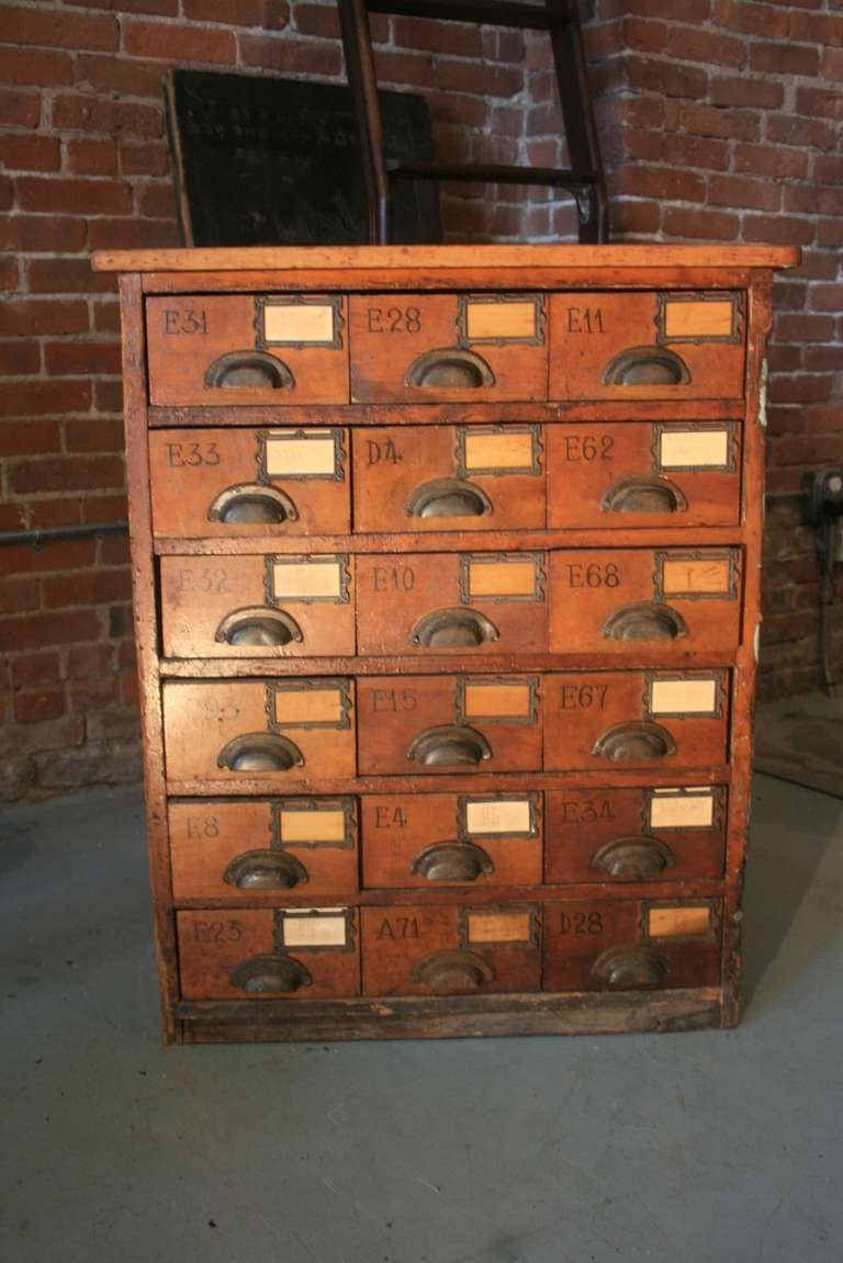 Merveilleux Multi  Drawer Card Catalogue Type Cabinet. This One Was A Jewelers Cabinet  From Providence