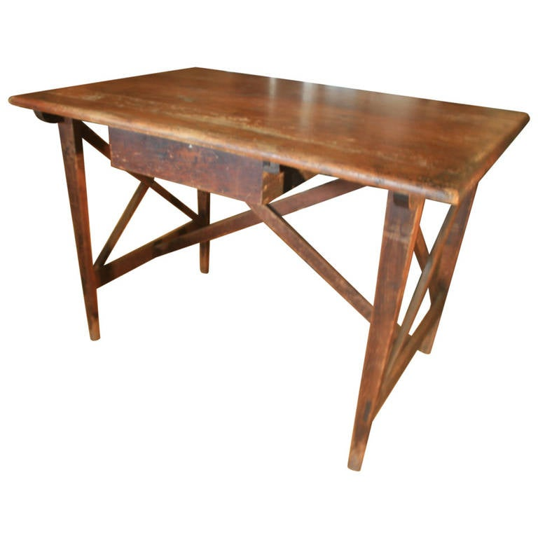 19th Century Architect's Counter Drawing Table