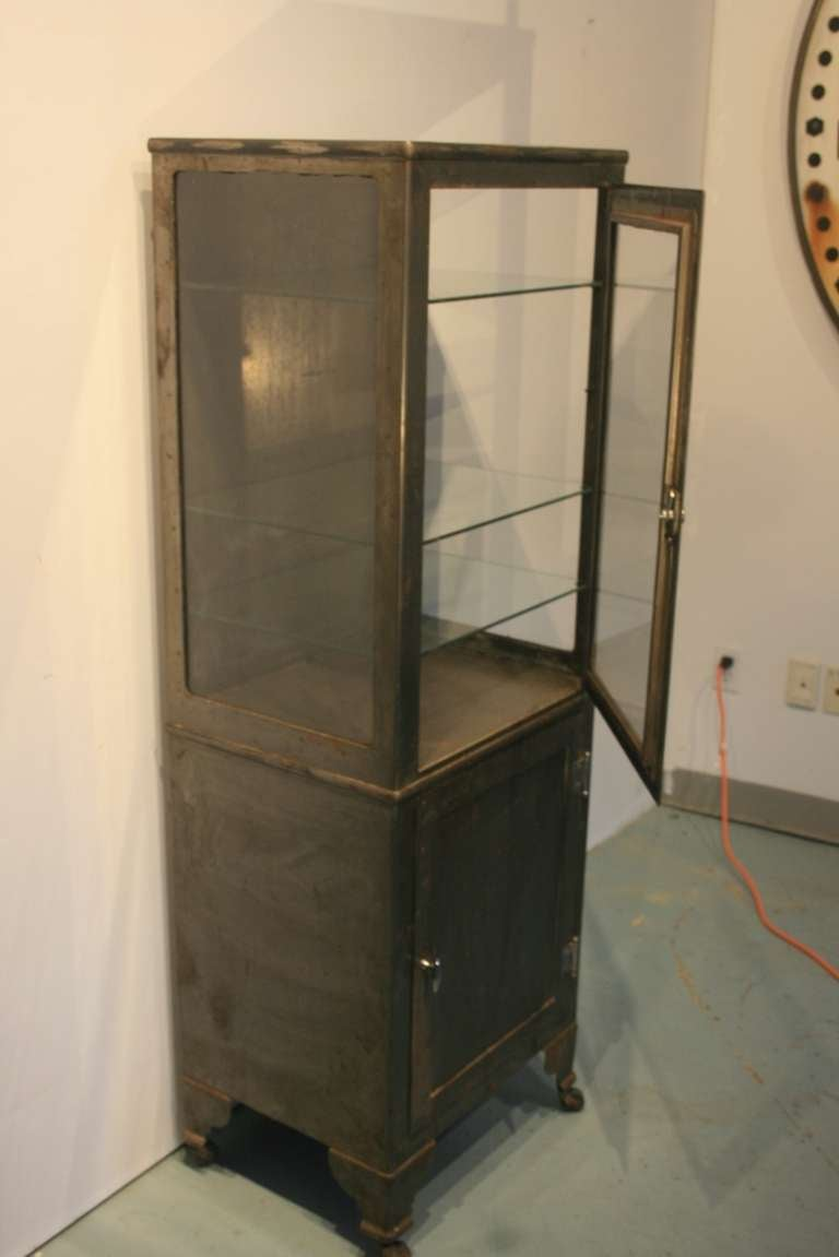 Nice Upright Medical Cabinet At 1stdibs