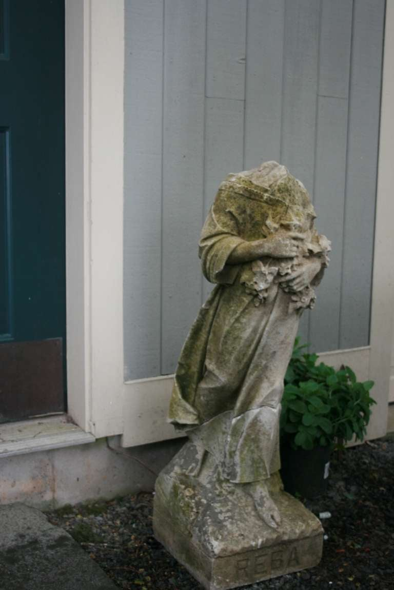 Beautiful Marble Garden Statue At 1stdibs