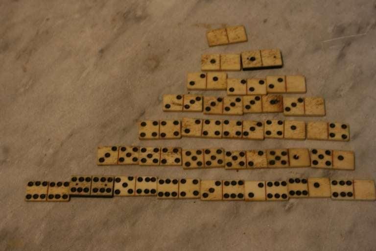 Antique Whalebone Dominoes 5