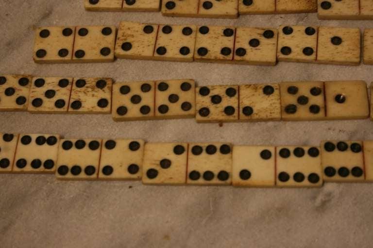 Antique Whalebone Dominoes 4