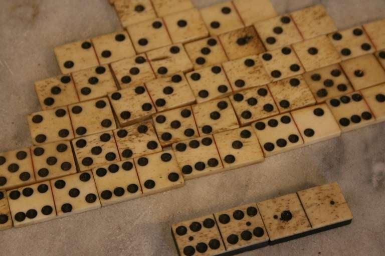 Antique Whalebone Dominoes 3