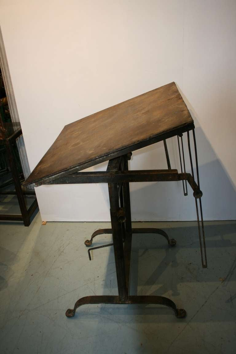 Steel Drafting Table Mayline Four Post