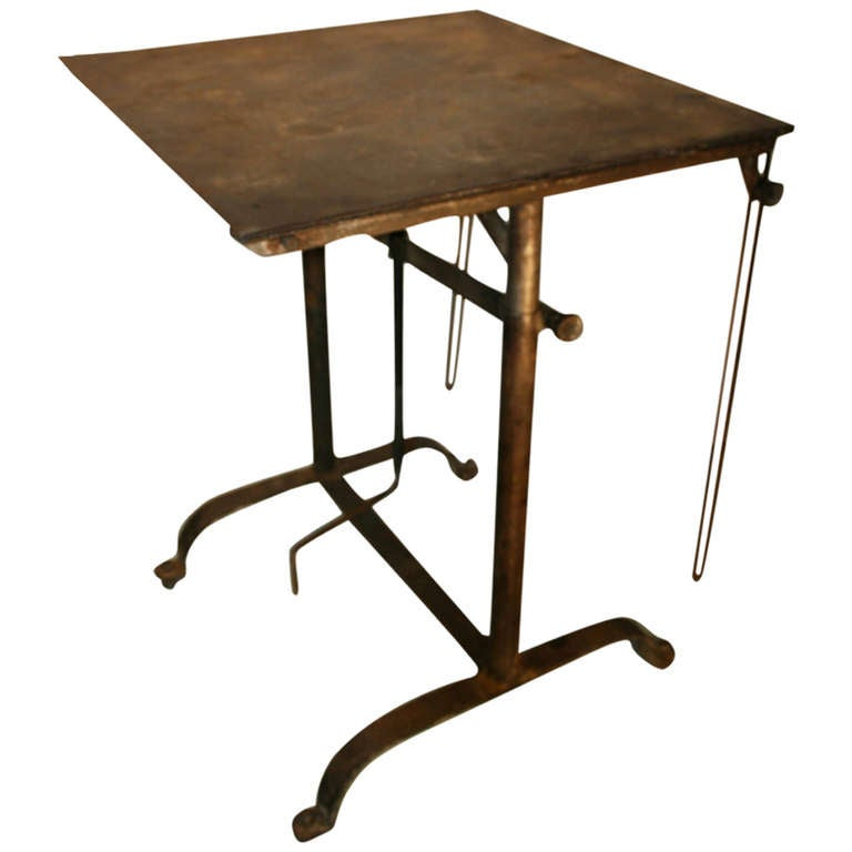 This Beautiful Patina Steel Drafting Table Is No Longer Available