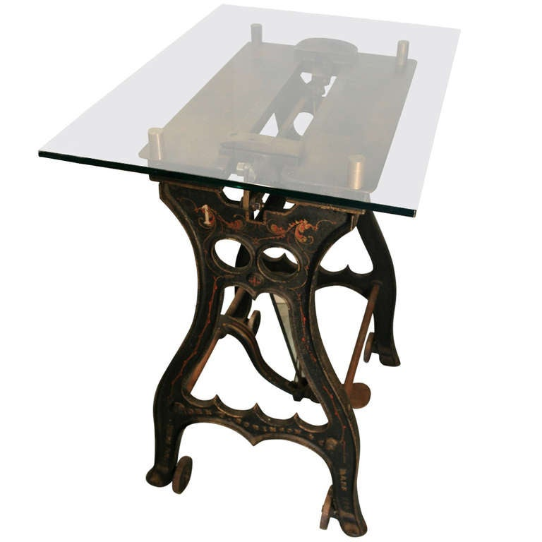 Early Industrial Revolution Machine Base Table at 1stdibs