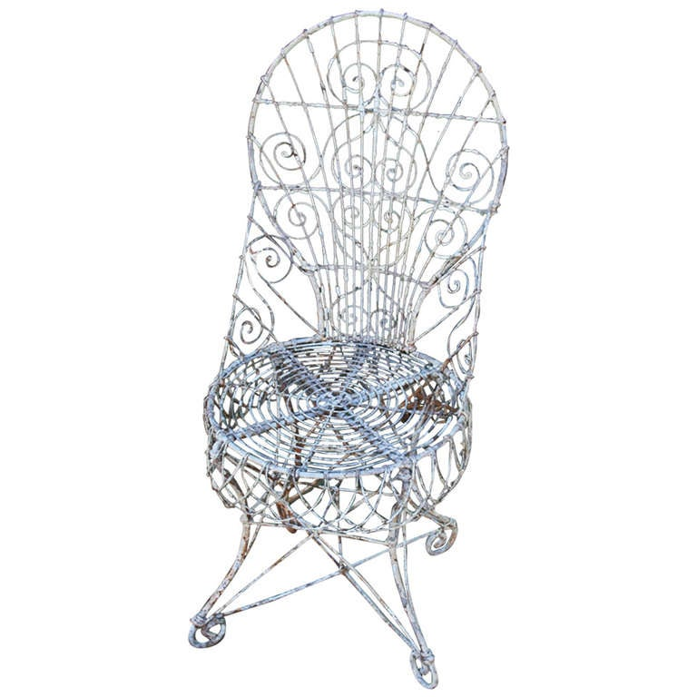 beautiful 19th c  victorian wire chair at 1stdibs