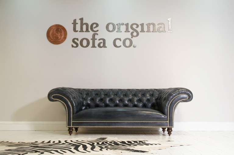 Newcastle Chesterfield Sofa Hand Dyed Elephant Grey at 1stdibs