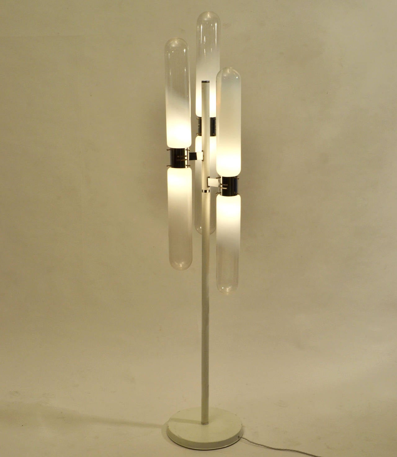 Mid-Century Modern Sculptural Floor Lamp with Murano Glass by Carlo Nason for Mazzega For Sale