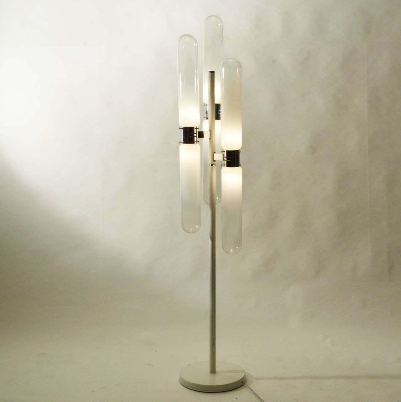 Mid-20th Century Sculptural Floor Lamp with Murano Glass by Carlo Nason for Mazzega For Sale