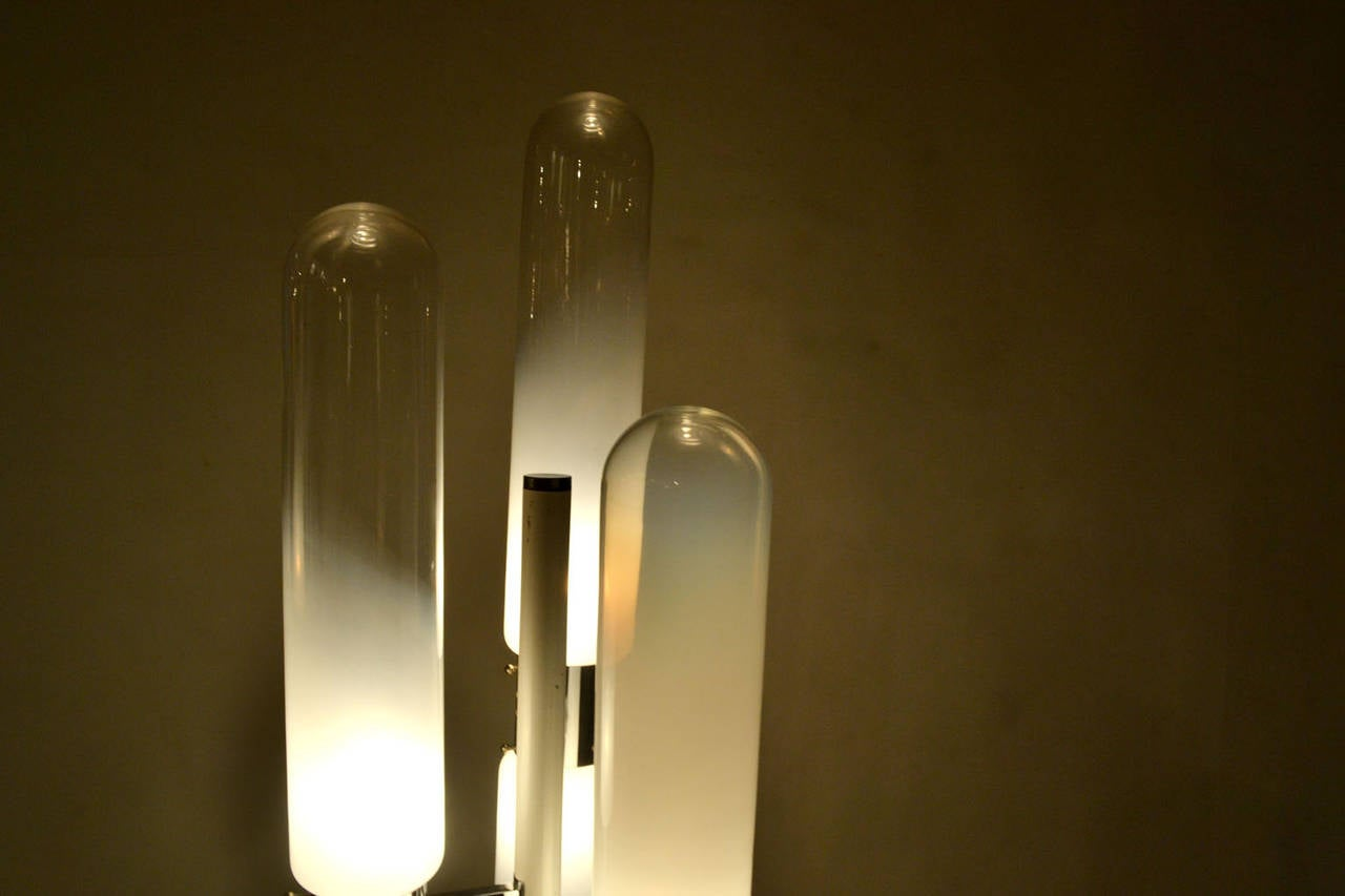 Sculptural Floor Lamp with Murano Glass by Carlo Nason for Mazzega 5