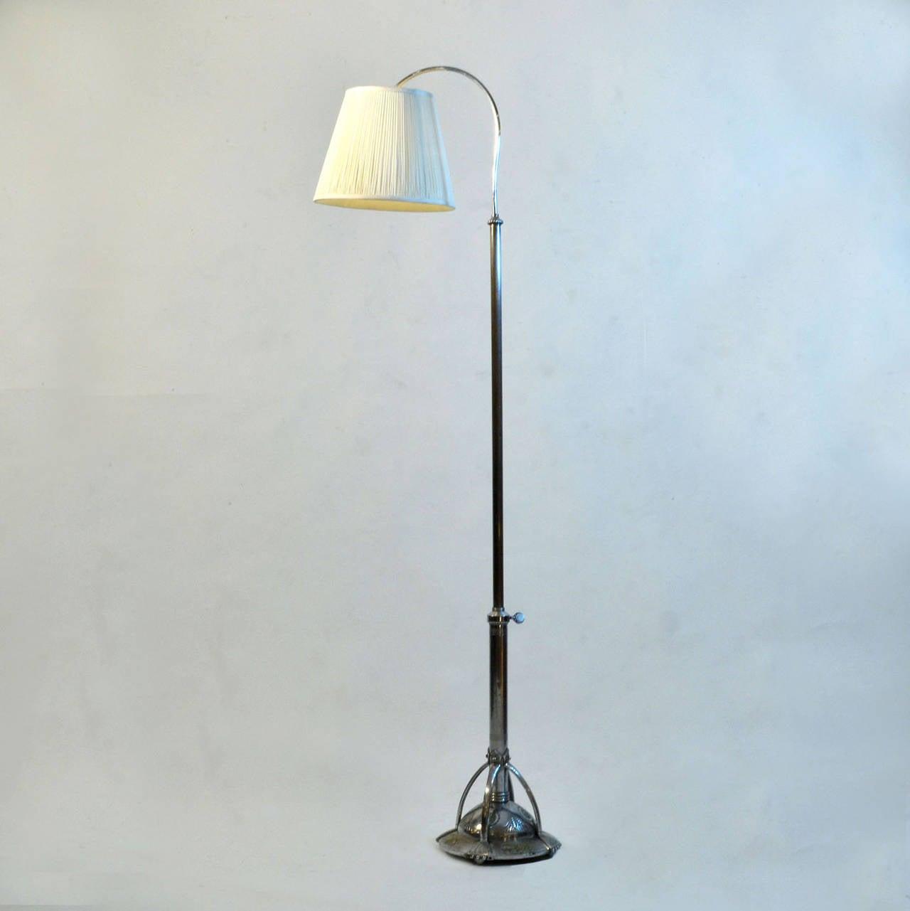 rare art deco floor lamp at 1stdibs. Black Bedroom Furniture Sets. Home Design Ideas