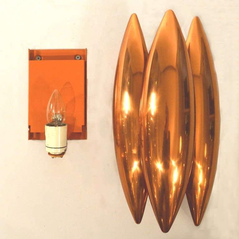 Pair of Copper Jo Hammerborg Wall Lamps at 1stdibs
