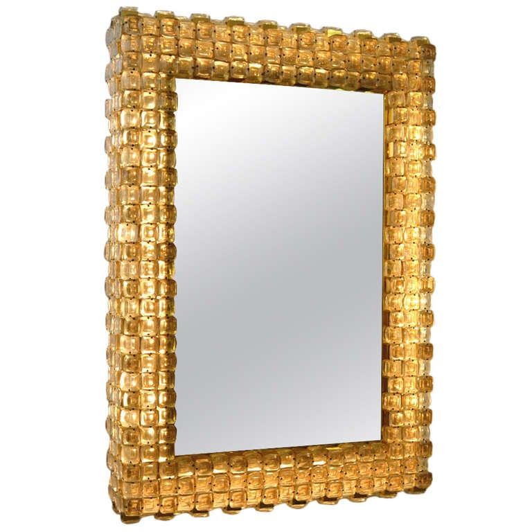 illuminated beaded mirror at 1stdibs