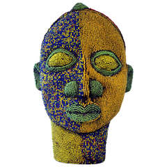 Nigerian Female Beaded Head