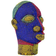 Nigerian Male Beaded Head
