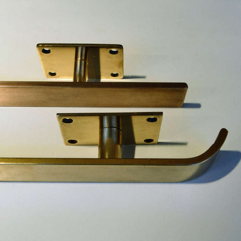 1960\'s Brass Pair of Push and Pull Door Handles at 1stdibs