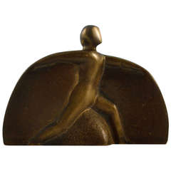 Half Moon Man Bronze Sculpture