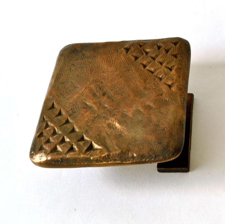 Door Handle Bronze with Fixtures In Excellent Condition For Sale In London, GB