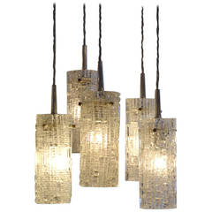 Five Tiered Glass Chandelier by Kalmar